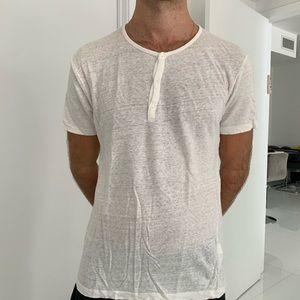 Zara men linen TShirt size L